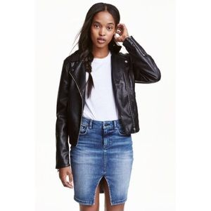 H&M denim skirt with front slit